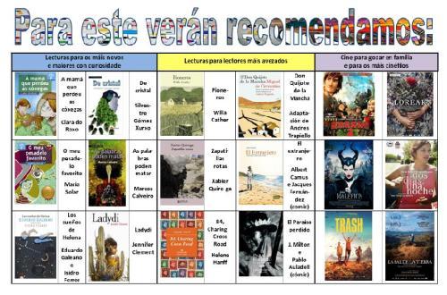 recomendacións para o verán 2015