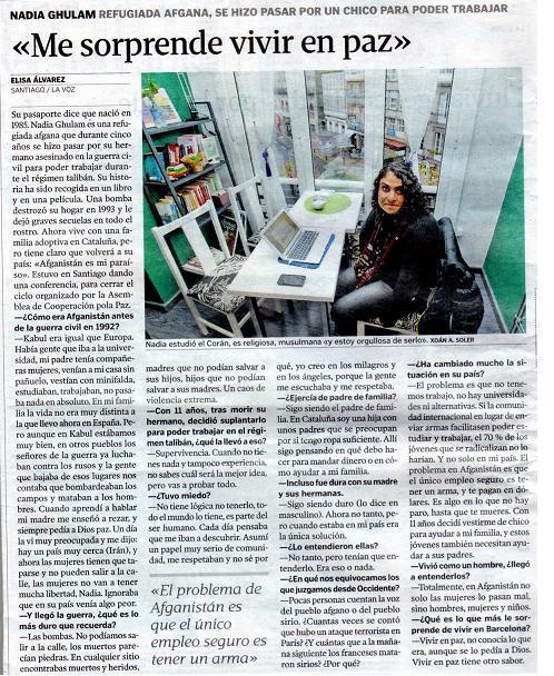 Nadia Ghulam prensa