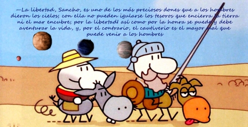 Quijote e Sancho planetas